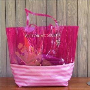 Victoria's Secret Large Pink Tote Bag